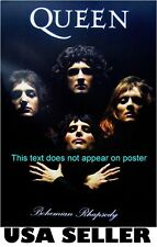 Queen Bohemian Rhapsody POSTER 14.5 x 21 Freddie Mercury Brian May long hair era