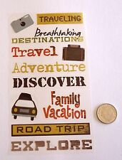 NO 216 Scrapbooking - 17 Small/Medium Travel Stickers - Scrapbook Holidays