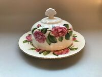 PARAGON CHINA ROUND DOME CAMELIA SERIES BUTTER DISH COVERED TEA SERVICE HANAJUKI