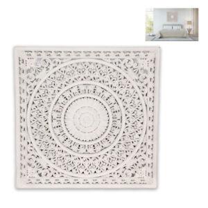 Large 79cm Square Mandala White Filigree Wall Art Boho Lattice Home Decor  Gifts