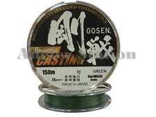 Gosen W8 Casting 8 Braid (Ply) #2.5/40lb/150m Braided Fishing Line (Green)