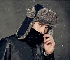 Schapka warme Pilotenmütze Fellmütze russische Winter Mütze mit Ohrenklappen L