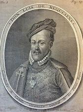 Luís de Zúñiga y Requesens (1528−1576) estampe au burin circa 1570 très rare