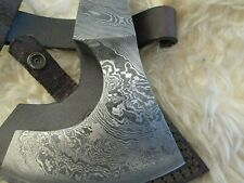 More details for damascus steel axe head with cover (hc10)