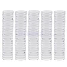 100pcs 19mm Plastic Transparent Round Coin Case Holder Capsules Container