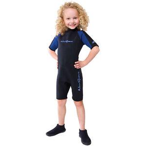 NeoSport by Henderson Children's 2mm Back Zip Shorty 2mm Neoprene Swim Suit
