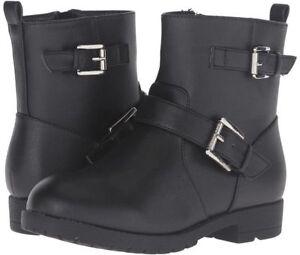 Michael Kors Girl's Youth Rain Boot Black Dhalia Mayla-888 Ankle Zip Sz 4 NIB