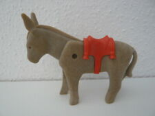 Playmobil 3487 DONKEY WITH SADDLE RED MEDIEVAL Klicky Animal Figures Accessories