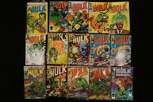 MARVEL COMICS (45) LOT OF 15 THE INCREDIBLE HULK COMICS
