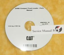 SEBP5924 Caterpillar 259B3 Compact Track Skid Loader Parts Manual Book CD