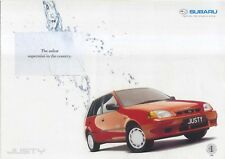 Subaru Justy 1.3 GX 4WD 1999-2001 Original UK Sales Brochure Pub. No. SB129