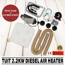 12 Volt 2.2KW Diesel Air Heater Metal Tank 2 x Vent Caravan RV high Holds PRO