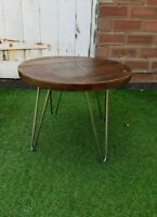 Rustic Industrial Coffee Table Solid Wood