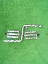 """BIKE TWISTED 6 1/2""""  CRANK AND 1/2"""" SQUARE TWISTED PEDALS  CRUISER  LOWRIDER BMX"""