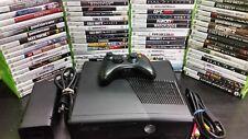Microsoft Xbox 360 S E 250 GB HDD Video Game Console Bundle HDMI w/ 5 FREE GAMES