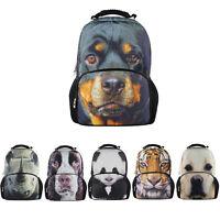 3D Animal Dog Backpack Men Women Rucksack Shoulder Bag Teenager Mochilas Bookbag