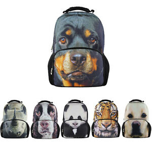 3D Animal Dog Backpack Men Women Rucksack Shoulder Bag Teenager Mochilas Bookbag
