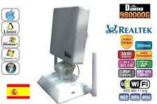 ANTENNA USB PANEL WIFI DIAMOND 38dbi 3800mw REALTEK 8187L,LUNGO FREQUENZA, 3, 8W
