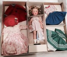 SHIRLEY TEMPLE ST-12 DOLL & CLOTHING 1958 SEARS GIFT SET w/ RARE GOLD STAR BOX