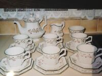JOHNSON BROTHERS Earthenware 21 Pcs Eternal Beau Tea Set