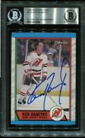 DEVILS KEN DANEYKO signed autographed 1989-90 OPC ROOKIE CARD RC BECKETT (BAS)
