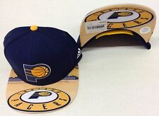 NBA Indiana Pacers Adidas Name Under Brim Snap Back Cap Hat Beanie Style #VH65Z