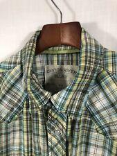 Canyon River Blues Men's Shirt 100% Cotton Button-Front Classic Fit M