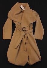 Boohoo Women's Francesca Belted Waterfall Coat BF5 Cream Medium/Large NWT