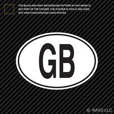 GB United Kingdom Country Code Oval Sticker Decal Self Adhesive British euro