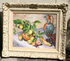 Still Life Fruit & Wine Painting Signed By Vicki MAGNIFICENT