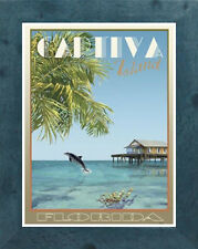 Captiva, FL (Framed)- Vintage Art Deco Style Travel Poster -by Aurelio Grisanty