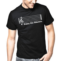 Enjoy the Silence Music Musik Party Sprüche Geschenk Spaß Comedy Fun T-Shirt