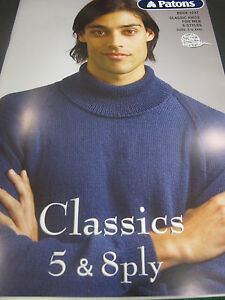 PATONS CLASSIC MENS DESIGNS PATTERN BOOKLET 1247,NEW