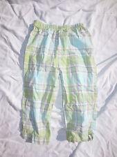 Baby Lulu green purple yellow plaid light pants sz 4