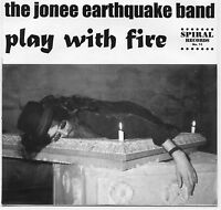 """PLAY WITH FIRE by Jonee Earthquake Band 45 7"""" RED Vinyl 1996 Garage Punk Boston"""