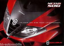 Prospekt Gilera Nexus 500 2004 brochure scooter Motorroller Broschüre Italien