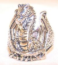 DRAGON BIKER RING BR137 HEAVY silver new dragons items men women fantasy jewelry