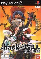 Used PS2 BANDAI  .hack//G.U. Vol.1 Rebirth  SONY PLAYSTATION JAPAN IMPORT
