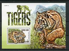 Sierra Leone 2015 MNH Tigers 1v S/S Siberian Tiger Wild Animals Fauna Stamps
