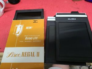 4   LISCO REGAL II 4X5 CUT FILM HOLDERS 2 are  new boxed