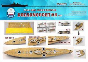 Shipyard 1/350 350023 Wood Deck HMS Dreadnought for Trumpeter