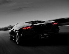 Black Lamborghini Aventador Car Photo Wall Art Canvas Print
