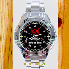 NEW RARE Dodge Charger RT CUSTOM CASUAL CHROME MEN'S WATCH WRISTWATCHES