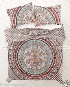 Gift Indian Duvet Doona Mandala Hippie Bohemian New Quilt 2 pillow Cover Blanket