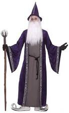 WIZARD COSTUME/ROBE, MENS HALLOWEEN/MAGICIAN FANCY DRESS COSTUME