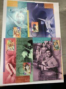 2000 MAXI CARDS ::: AUSTRALIAN ARTS FESTIVALS :: (5) Maximum Card set