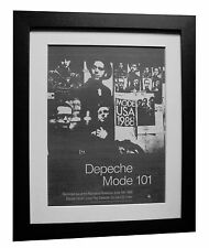 DEPECHE MODE+101 Live+POSTER+AD+ORIGINAL+1989+QUALITY FRAMED+EXPRESS GLOBAL SHIP