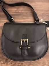 Fatface Sian Black Leather Cross Body Bag - NWT - RRP £69.00