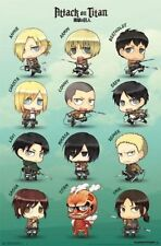 ATTACK ON TITAN CHIBI CHARACTER GRID POSTER 22x34 FUNIMATION JAPANESE ANIME