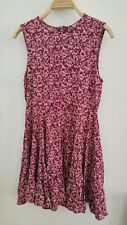 Review Summer Floral Dress Sleeveless Pink Red Maroon Size XS